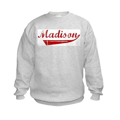 Madison (red vintage) Kids Sweatshirt