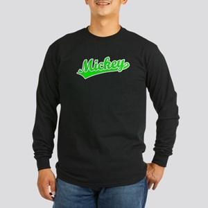 Retro Mickey (Green) Long Sleeve Dark T-Shirt