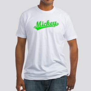 Retro Mickey (Green) Fitted T-Shirt