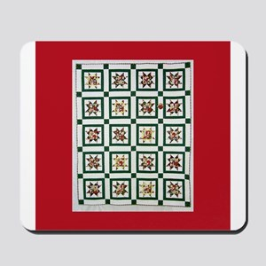Christmas Holiday Quilt Mousepad