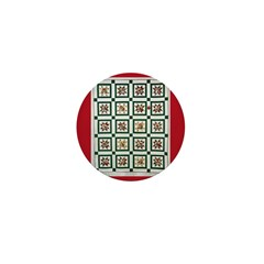 Christmas Holiday Quilt Mini Button (10 pack)