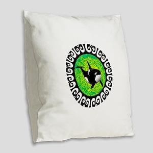 ORCA Burlap Throw Pillow