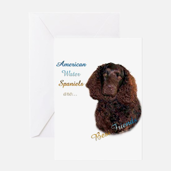 Water Spaniel Best Friend1 Greeting Card