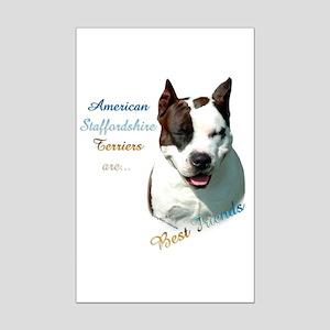 AmStaff Best Friend1 Mini Poster Print