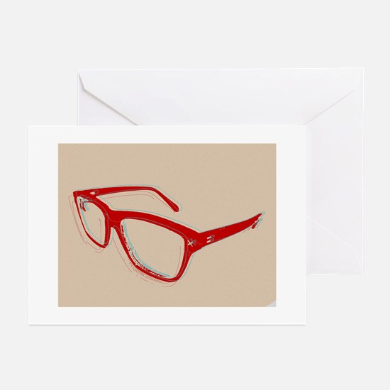 Glasses Greeting Cards