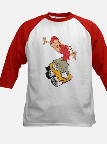 Skateboarder Kids Baseball Jersey