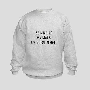 Be kind to animals Kids Sweatshirt