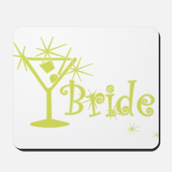 Yellow Curly Martini Bride Mousepad
