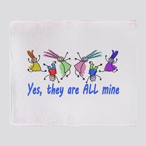 Yes They Are All Min | Mom of Multip Throw Blanket