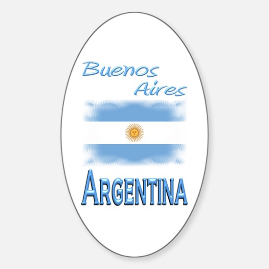 Buenos Aires - Oval Decal