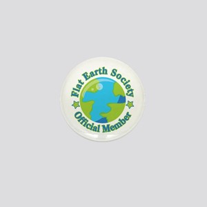 Flat Earth Society Official Member Mini Button
