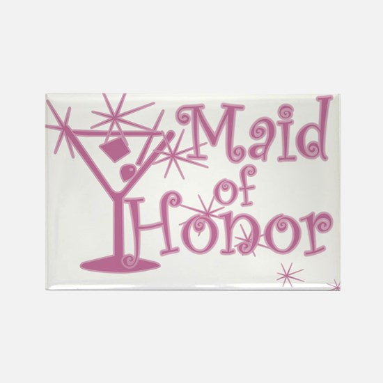 Pink C Martini Maid Honor Rectangle Magnet
