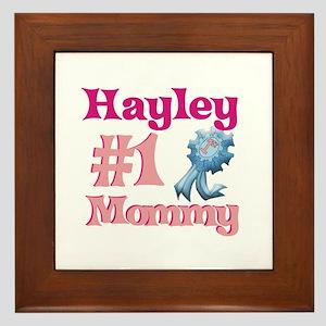 Hayley - #1 Mommy Framed Tile