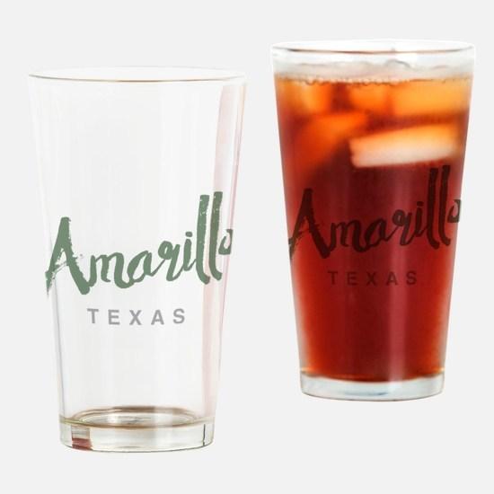 Amarillo Texas Drinking Glass