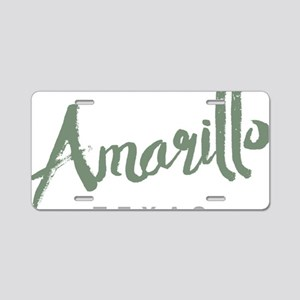 Amarillo Texas Aluminum License Plate