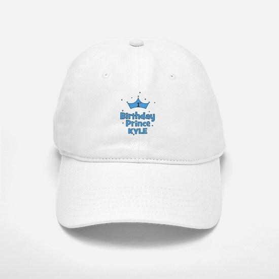 1st Birthday Prince - Kyle! Baseball Baseball Cap