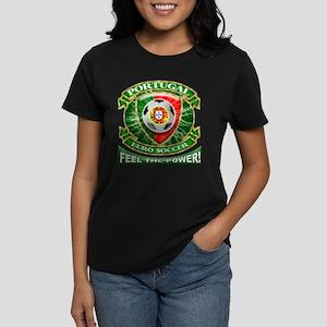 Portugal Soccer Power Women's Dark T-Shirt