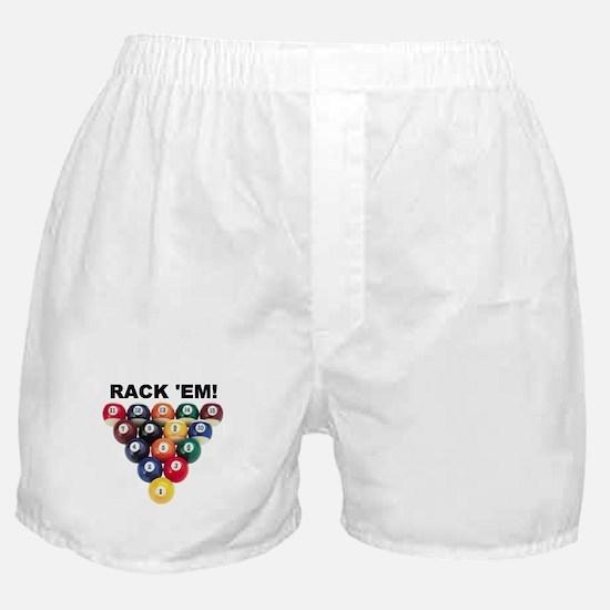 RACK 'EM! Boxer Shorts