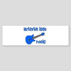 Autistic Kids Rock! Blue Guit Bumper Sticker