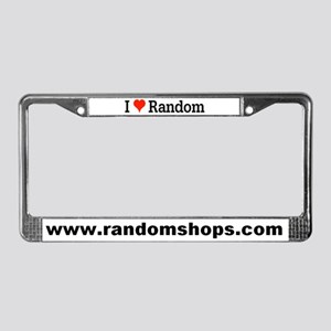 I Love Random License Plate Frame