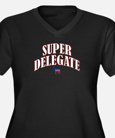 Super Delegate Women's Plus Size V-Neck Dark T-Shi