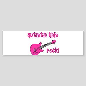 Autistic Kids Rock! Pink Guit Bumper Sticker