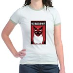Obey the SIAMESE - Jr. Ringer Cat T-Shirt
