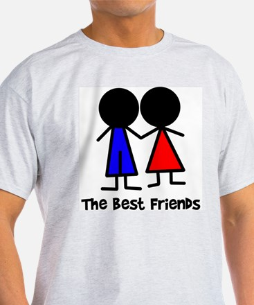 The Best Friends Ash Grey T-Shirt