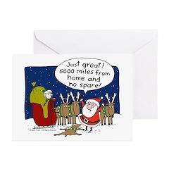 No Spare Santa Greeting Cards (Pk of 10)