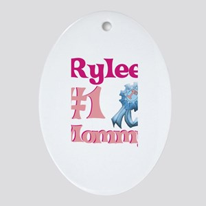 Rylee - #1 Mommy Oval Ornament