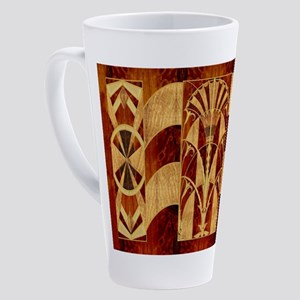 Harvest Moons Art Deco Panel 17 oz Latte Mug