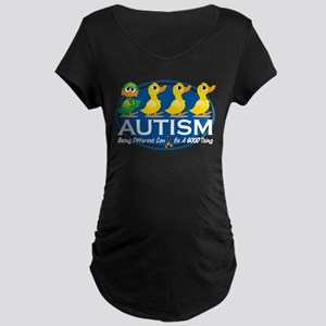 Autism Ugly Duckling Maternity Dark T-Shirt