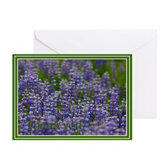 Lupine Thank You Greeting Cards (Pk of 10)