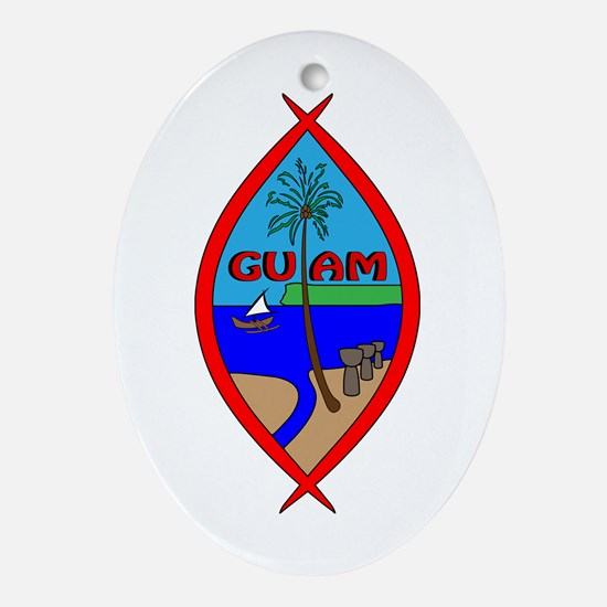Cute Tinian Oval Ornament