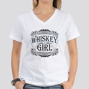 Vintage Whiskey Girl Women's V-Neck T-Shirt