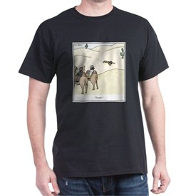 Tourist in the Desert Cartoon T-Shirt