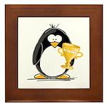 Trophy Winner Penguin Framed Tile