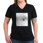 Out of Ice in the Arct Women's V-Neck Dark T-Shirt