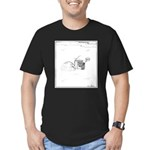 Out of Ice in the Arct Men's Fitted T-Shirt (dark)