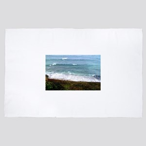 Waves on the shore 4' x 6' Rug