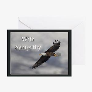 Eagle Sympathy Greeting Cards (Pk of 20)