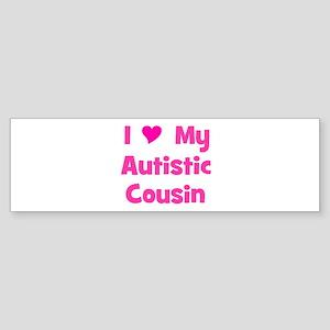 I Love (heart) My Autistic Co Bumper Sticker