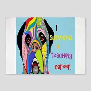 I Survived a Teaching Career 5'x7'Area Rug