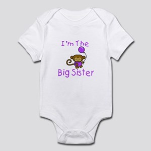 I'm The Big Sister - Monkey Infant Bodysuit