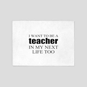 Funny teacher 5'x7'Area Rug