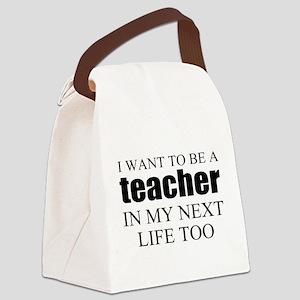 Funny teacher Canvas Lunch Bag