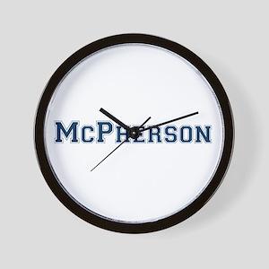 McPherson Last Name Varsity Wall Clock