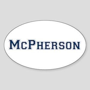 McPherson Last Name Varsity Oval Sticker