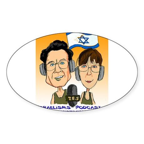 Israelisms Oval Sticker