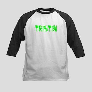 Tristin Faded (Green) Kids Baseball Jersey